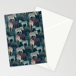 zebra navy Stationery Cards