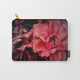 Leadlight Roses Carry-All Pouch