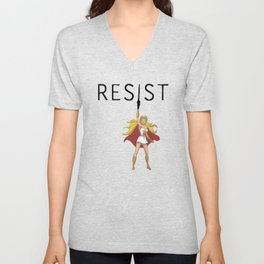 She-Ra says RESIST Unisex V-Neck