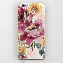 Large floral autumn iPhone Skin