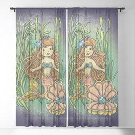 Under the sea Sheer Curtain