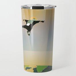 A Super Earth Retro Space Poster Travel Mug