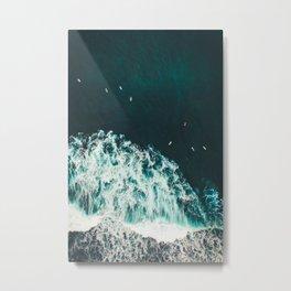 WAVES - OCEAN - SEA - WATER - COAST - PHOTOGRAPHY Metal Print