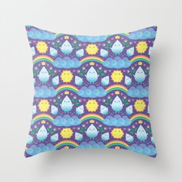 Happy water spirits Throw Pillow