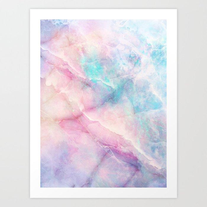 Iridescent marble Art Print