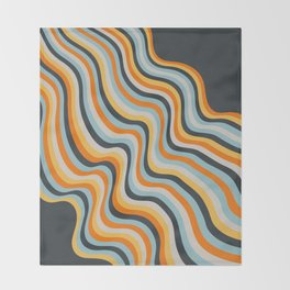 Dancing Lines Throw Blanket