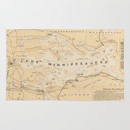 Vintage Map of Lake Winnipesaukee (1896) Rug