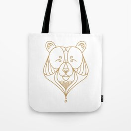 Gold Bear One Tote Bag
