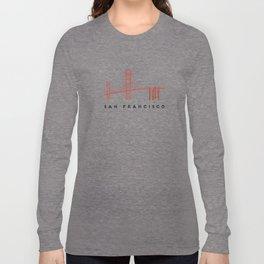 Golden Gate Bridge 2, San Francisco, California Long Sleeve T-shirt
