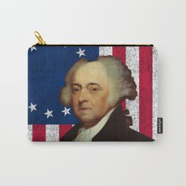 John Adams and The American Flag Carry-All Pouch