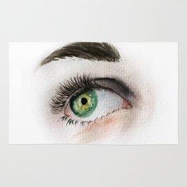Eye Study in Watercolor 1 Rug