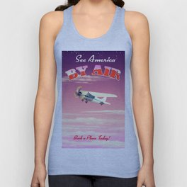 See America By Air Sunset Edition Unisex Tank Top
