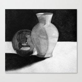 Vase with Sphere Canvas Print