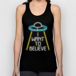 I want to believe Unisex Tank Top