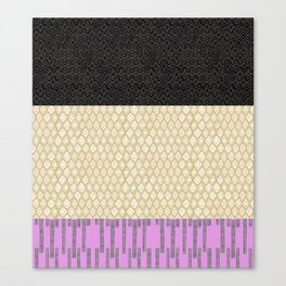 Black Green Pink Ethnic Print Canvas Print