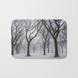 NYC Winter In Central Park Bath Mat