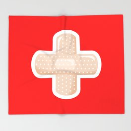 First Aid Plaster Throw Blanket