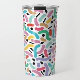Summer Rainbow Squiggles Travel Mug