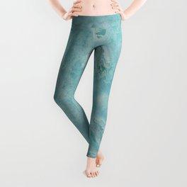 Turquoise marble Leggings