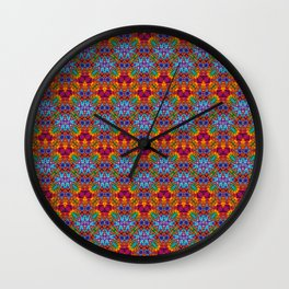 Batik Rainbow Zigzags Wall Clock