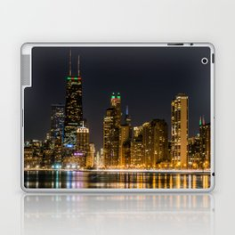 Chicago North Shore Skyline Night Laptop & iPad Skin