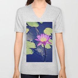 Water Lily Unisex V-Neck
