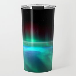 Aurora Borealis Over Earth Travel Mug