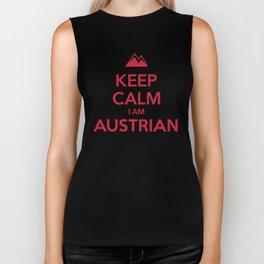 KEEP CALM I AM AUSTRIAN Biker Tank