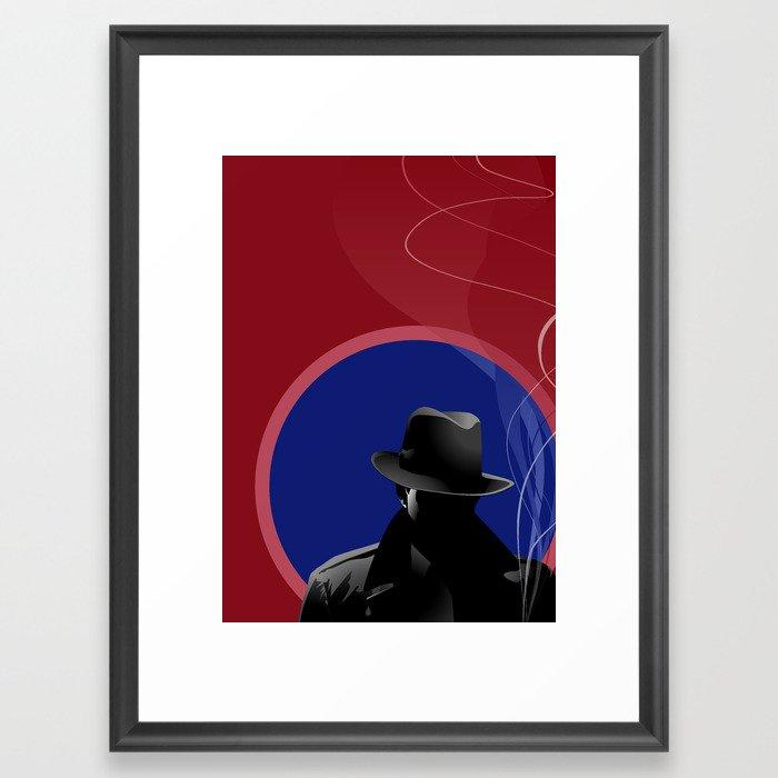 Smoking Detective Framed Art Print