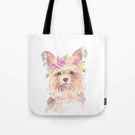 yorkie watercolor Tote Bag