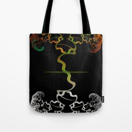 Sky Roots Wildstyle Mural of Autumn Fractal Trees Tote Bag