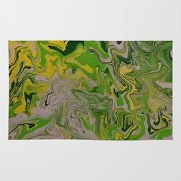 green mess abstract Rug