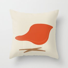 Orange La Chaise Chair by Charles & Ray Eames Throw Pillow