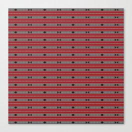 ethnic weave horizontal red Canvas Print