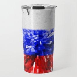 Extruded Flag of Russia Travel Mug