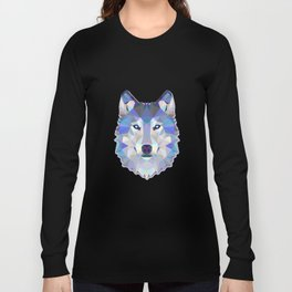 Colorful Wolf Long Sleeve T-shirt