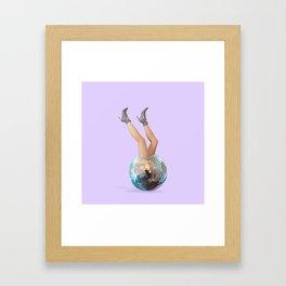 Disco Legs Framed Art Print