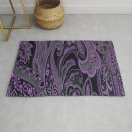 Paisley 10 Purple Rug