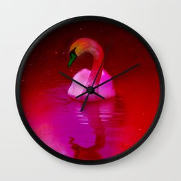 Surreal swan Wall Clock