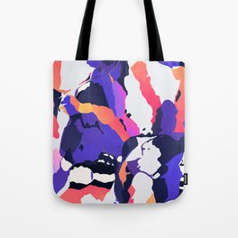 The purple color is turning peachy Tote Bag