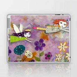 LIVE IN THE SUNSHINE, mixed media art Laptop & iPad Skin