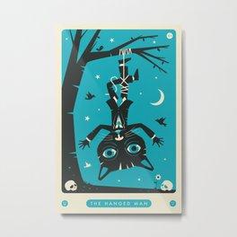 TAROT CARD CAT: THE HANGED MAN Metal Print