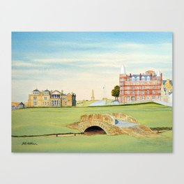 St Andrews Golf Course 18th Hole Canvas Print