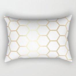 Honeycomb - Gold #170 Rectangular Pillow