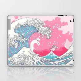 Psychodelic Bubblegum Kunagawa Surfer Cat Laptop & iPad Skin