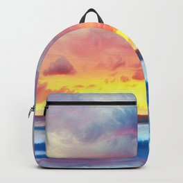 Lonas planet stormy evening Backpack