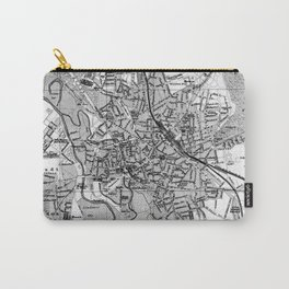 Vintage Map of Hanover Germany (1895) BW Carry-All Pouch