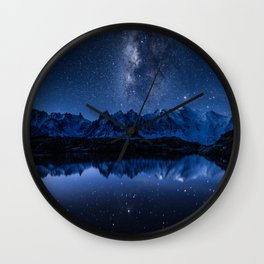 Night mountains Wall Clock