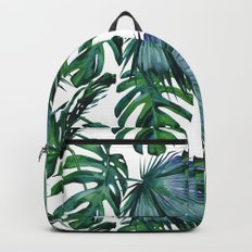 Tropical Palm Leaves Classic Backpacks