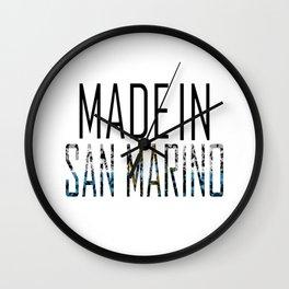 Made In San Marino Wall Clock